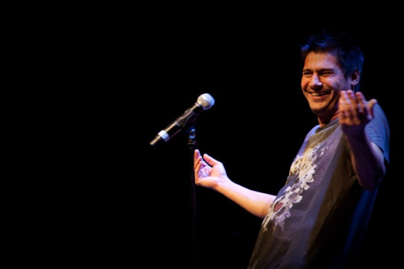 Danny Bhoy gives a sneek peak of his new material to open the second half.
